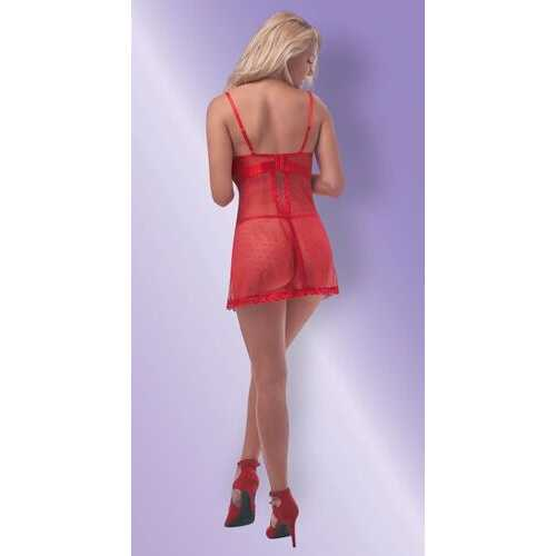 UNWRAP ME BABY DOLL & G-STRING SET RED S/M