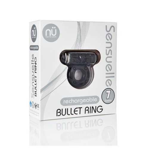 SENSUELLE BULLET RING BLACK