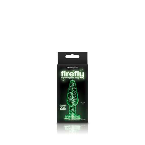 FIREFLY GLASS TAPERED PLUG SMALL CLEAR