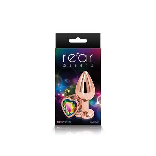 REAR ASSETS ROSE GOLD HEART MEDIUM RAINBOW