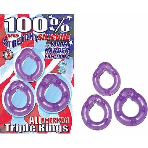 ALL AMERICAN TRIPLE RINGS PURPLE