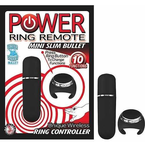 POWER RING REMOTE MINI SLIM BULLET BLACK