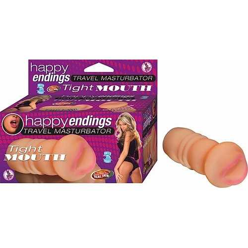 HAPPY ENDING TRAVEL MASTURBATOR TIGHT MOUTH FLESH