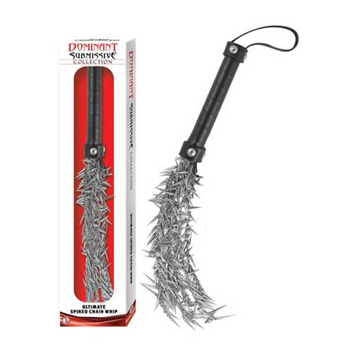 DOMINANT SUBMISSIVE COLLECTION ULTIMATE SPIKED CHAIN WHIP