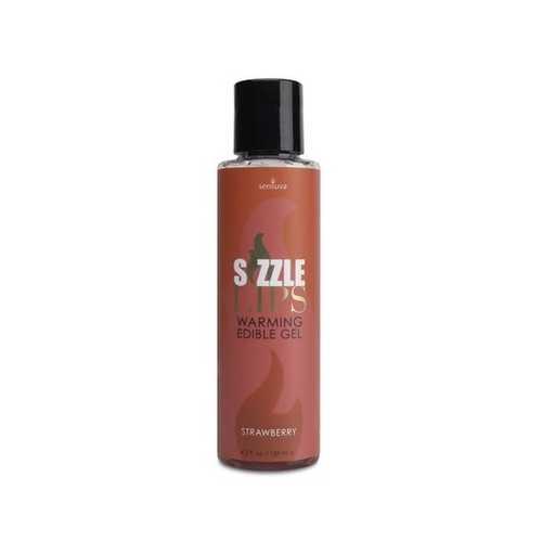 SIZZLE LIPS WARMING GEL STRAWBERRY 4.2 OZ