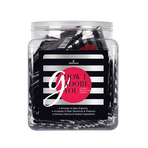G HOW I ADORE YOU G-SPOT ENHANCEMENT CREAM 100PC SINGLE USE PACKET TUB