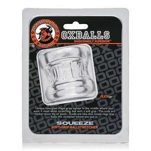 SQUEEZE BALL STRETCHER OXBALLS CLEAR (NET)