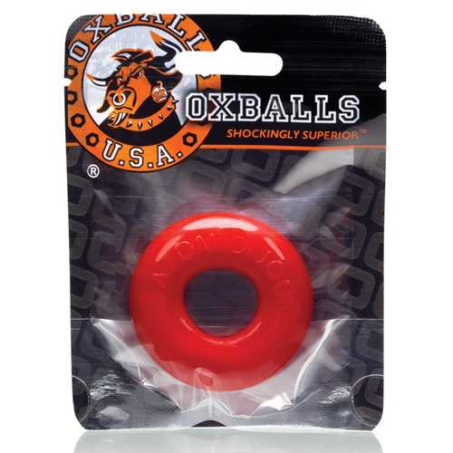 DO-NUT 2 COCKRING OXBALL TPR RED (NET)