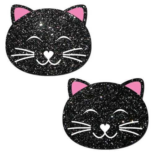 KITTY CAT BLACK GLITTER
