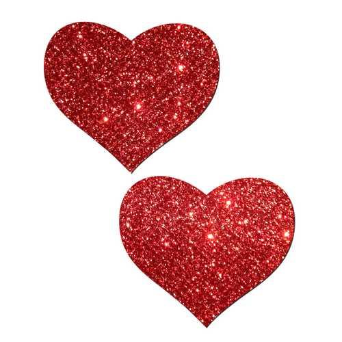 PASTEASE HEART RED GLITTER