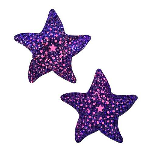 PASTEASE TWINKLING PURPLE & PINK STARFISH