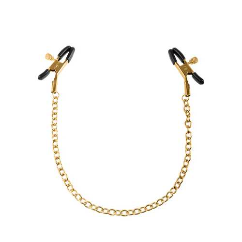 FETISH FANTASY GOLD NIPPLE CHAIN CLAMPS