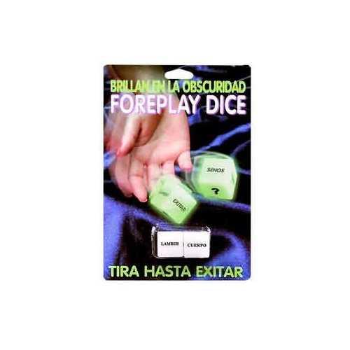 GLOW IN THE DARK EROTIC DICE-EA-SPANISH VERSION