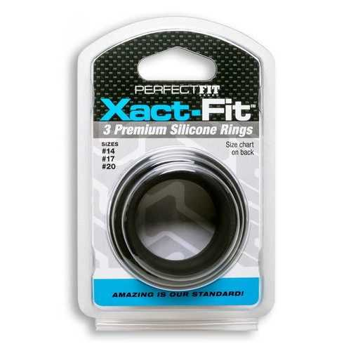 XACT FIT SILICONE RINGS #14 #17 #20 BLACK