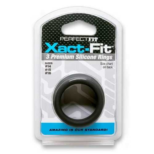 XACT FIT SILICONE RINGS #14 #15 #16 BLACK