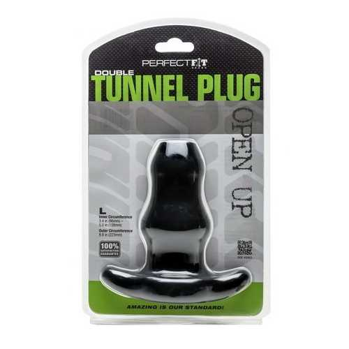 D-TUNNEL PLUG LARGE BLACK