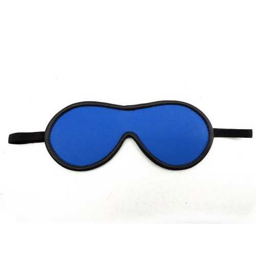 (WD) BLINDFOLD LEATHER BLUE