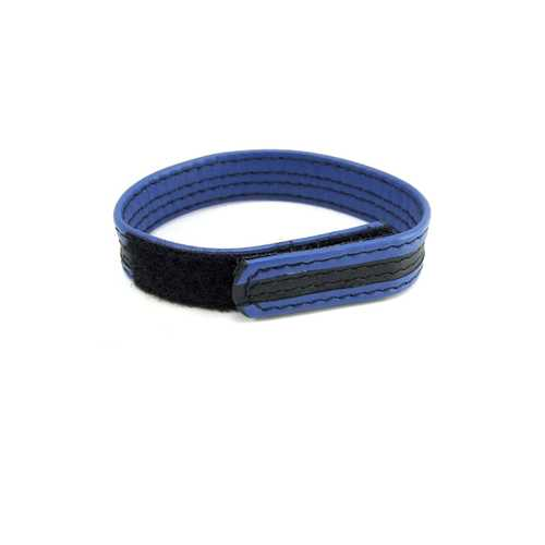 LEATHER VELCRO C RING BLACK/BLUE