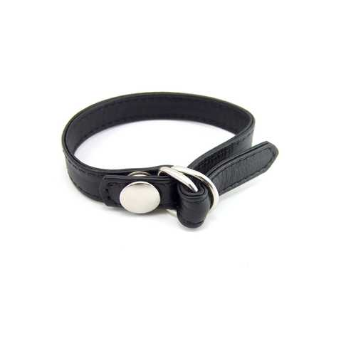 RING LEATHER D RING W/SNAP RELEASE BLACK