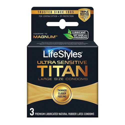LIFESTYLES ULTRA SENSITIVE TITAN 3PK