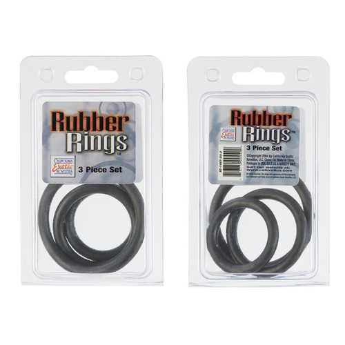 RUBBER RING BLACK 3PC SET