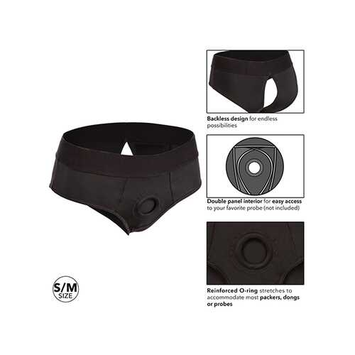 BOUNDLESS BACKLESS BRIEF S/M HARNESS BLACK