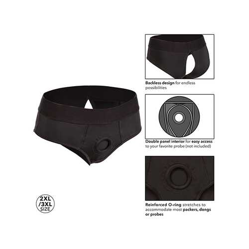 BOUNDLESS BACKLESS BRIEF 2XL/ 3XL HARNESS BLACK