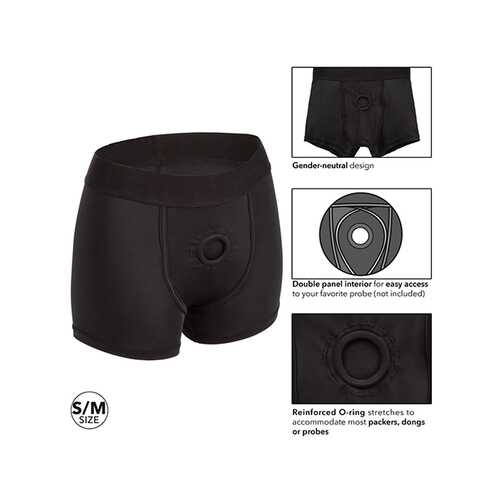 BOUNDLESS BOXER BRIEF S/M HARNESS BLACK