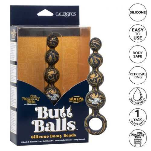 NAUGHTY BITS BUTT BALLS SILICONE BOOTY BEADS