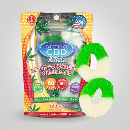 EXPERIENCE CBD 60MG SOUR APPLE RINGS 2PC (NET)