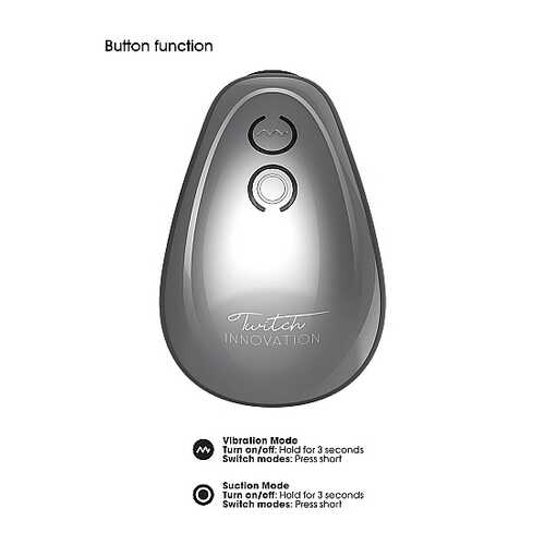 TWITCH HANDS FREE SUCTION & VIBRATION TOY SILVER
