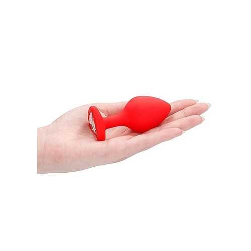 DIAMOND HEART BUTT PLUG RED LARGE