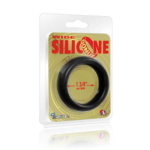 WIDE SILICONE DONUT BLACK 1.75IN