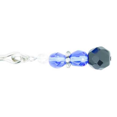 TWEEZER CLIT CLAMP W/BLUE BEADS