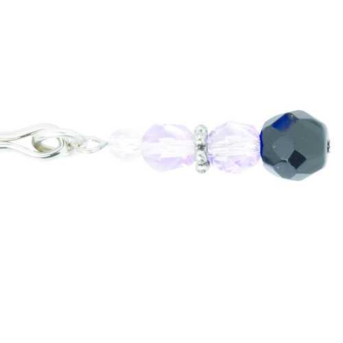 TWEEZER CLIT CLAMP W/PURPLE BEADS