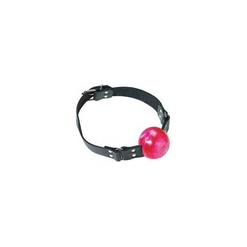 2IN RED BALL GAG W/BUCKLE