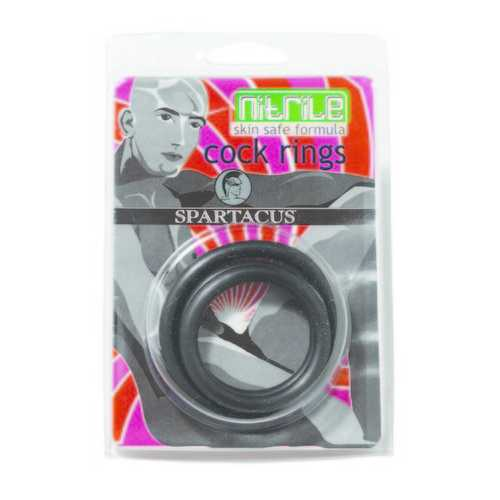 NITRILE COCK RING SET-BLACK