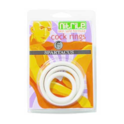 NITRILE COCK RING SET-WHITE