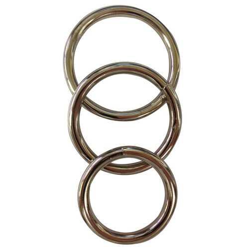 """SEAMLESS METAL O RING 3 PACK 1.5/ 1.75"""" / 2"""" """""""