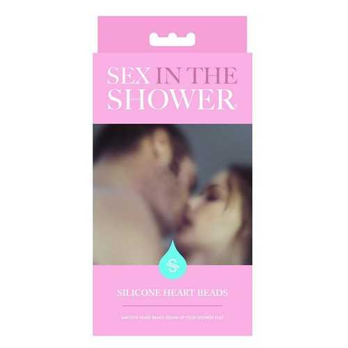 SEX IN THE SHOWER BLUE SILICONE HEART BEADS