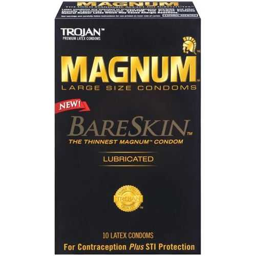 TROJAN MAGNUM BARESKIN 10 PACK