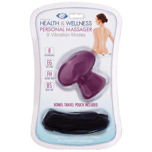 CLOUD 9 HEALTH & WELLNESS PLUM PERSONAL MUSHROOM MASSAGER