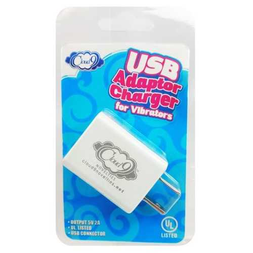 (D) CLOUD 9 USB 1 PORT ADAPTER CHARGER FOR VIBRATORS (NET)