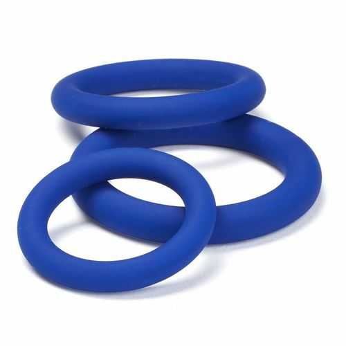 CLOUD 9 PRO SENSUAL SILICONE COCK RING 3 PACK BLUE