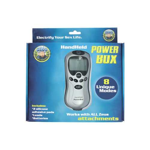 ZEUS ELECTROSEX HAND HELD POWERBOX 8 MODES