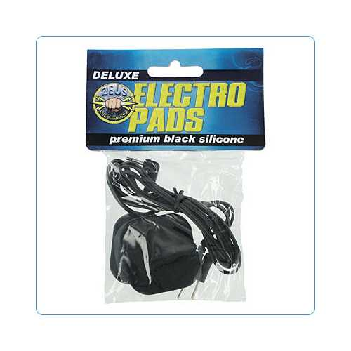 ZEUS ELECTROSEX BLACK ADHESIVE SILICONE PADS PAIR (Out Mid Sep)