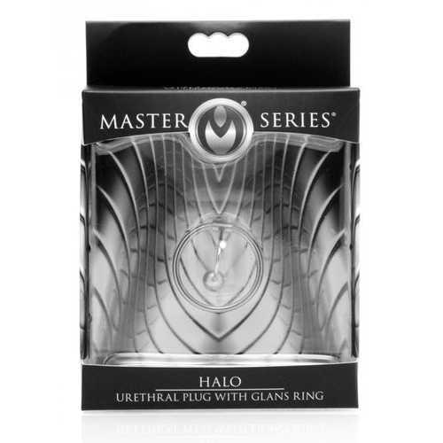 (WD) MASTER SERIES HALO URETHR PLUG W/ GLANS RING
