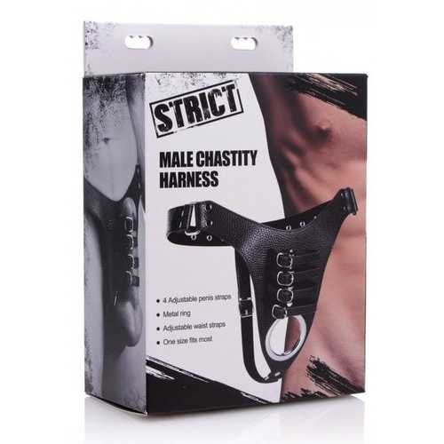 STRICT MALE CHASTITY HARNESS