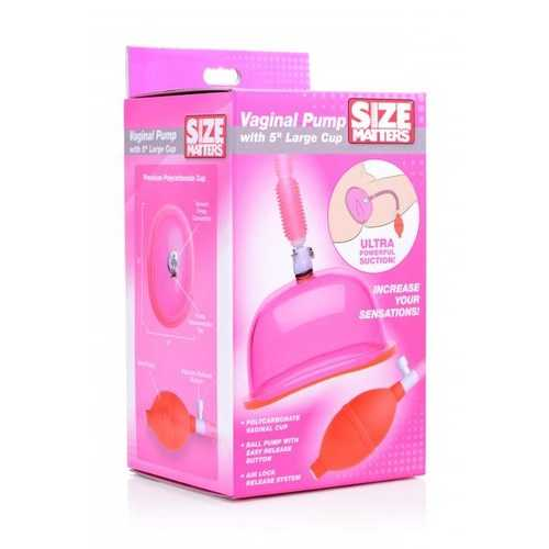 SIZE MATTERS VAGINAL PUMP W/ 5IN LARGE CUP