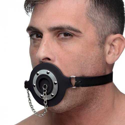 MASTER SERIES PIE HOLE SILICONE FEEDING GAG
